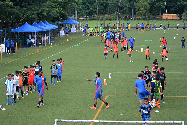 Father Agnel Vashi School Football Ground